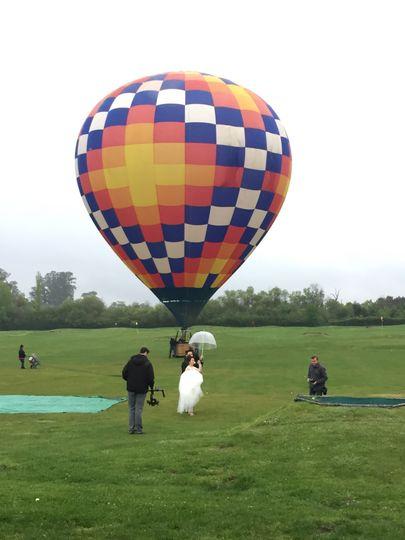 Napa hot air balloon launch