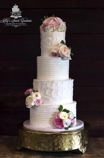 rustic shabby chic wedding cake 000