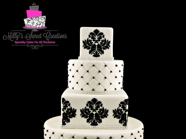 Tmx 1426645788489 Damask Wedding Cake 001 Cleburne, Texas wedding cake