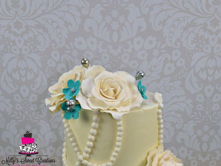 Tmx 1432014121971 Aqua Turquoise 60th Birthday Cake 10 Cleburne, Texas wedding cake