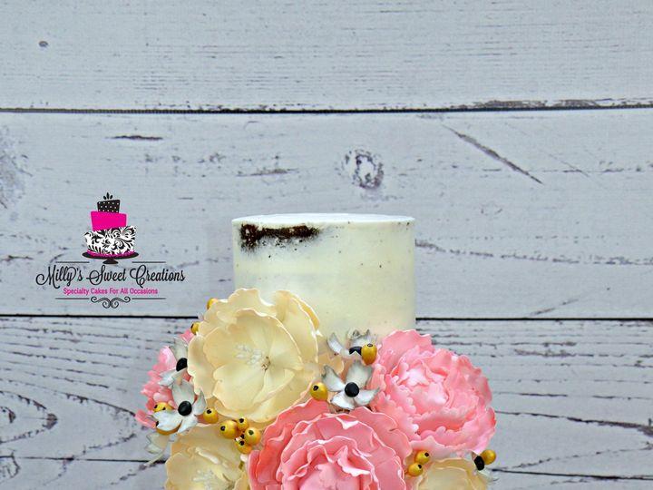 Tmx 1432518725473 White Shabby Chic Rustic Style Naked Wedding Cake  Cleburne, Texas wedding cake
