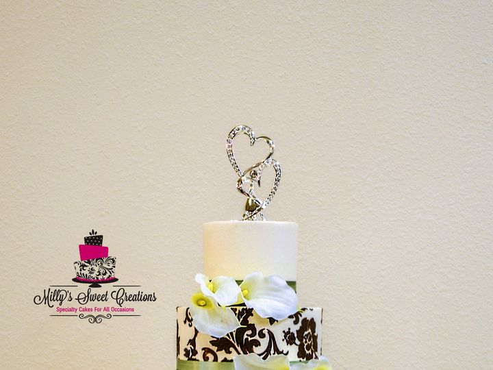 Tmx 1433634789153 Ivory Brown Wedding Cake 12 Cleburne, Texas wedding cake