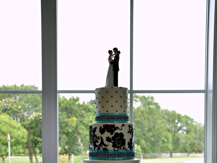 Tmx 1436160386678 Lite Blue  White With Rhinestone Wedding Cake 001 Cleburne, Texas wedding cake