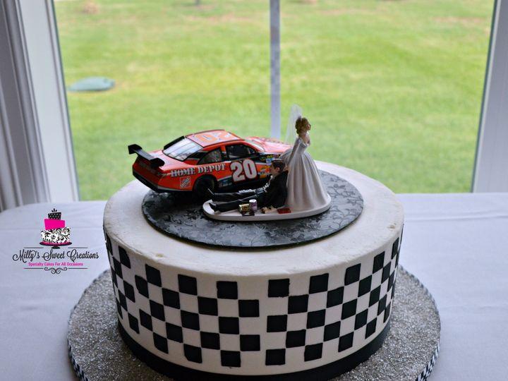 Tmx 1436160441121 Race Car Checkered Grooms Cake 004 Cleburne, Texas wedding cake
