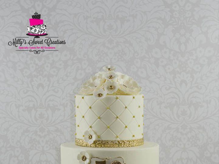 Tmx 1446424385328 50th Golden Wedding Anniversary Cake 001 Cleburne, Texas wedding cake