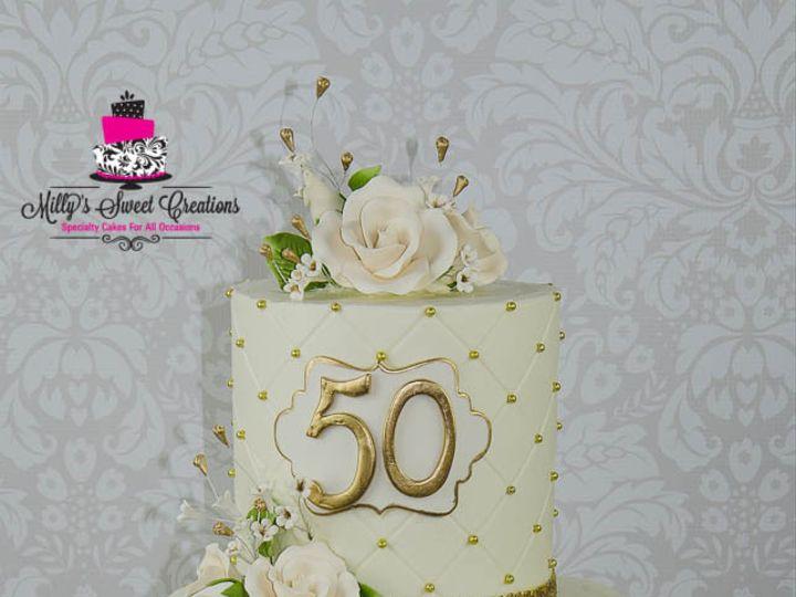 Tmx 1460251829936 50th Wedding Anniversary Cake 004 Cleburne, Texas wedding cake