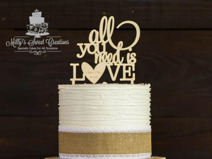 Tmx 1462235133930 Rustic Style Half Naked Wedding Cake 001 Cleburne, Texas wedding cake