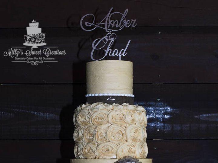 Tmx 1467045295965 Rustic Ivory Wedding Cake With Burlap Flower 003 Cleburne, Texas wedding cake