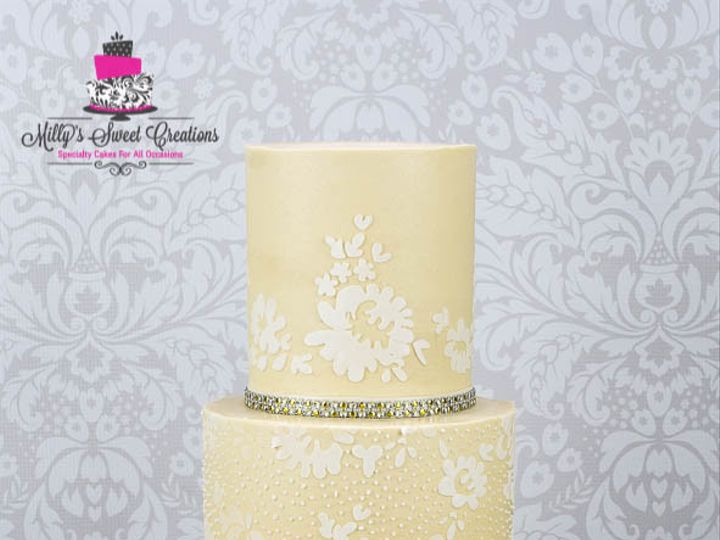 Tmx 1467651725384 Lace Weddding Cake 001 Cleburne, Texas wedding cake