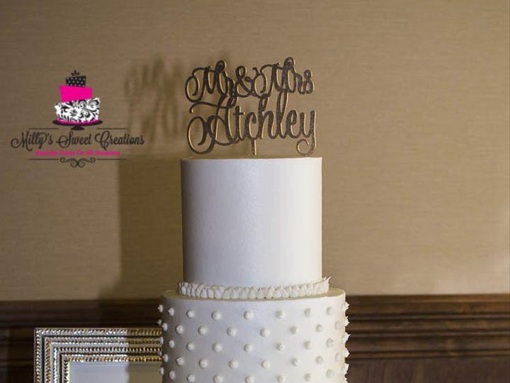 Tmx 1469502518212 Hobnail Classic Modern Dots Milk Glass Pattern Cak Cleburne, Texas wedding cake