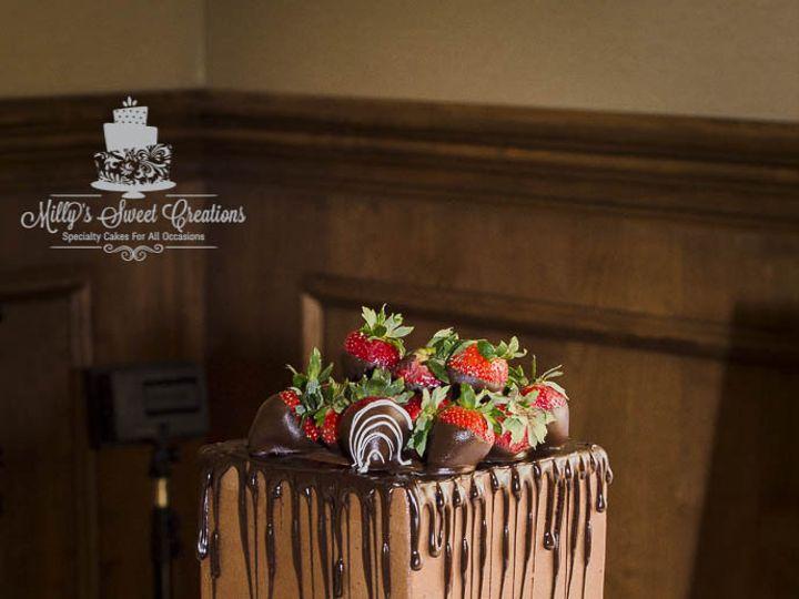 Tmx 1469502923424 Chocolate Strawberries Grooms Cake 004 Cleburne, Texas wedding cake