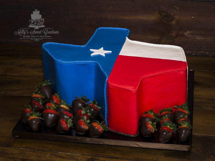 Tmx 1475386742727 Texas Shaped Groom Cake With Chocolate Covered Str Cleburne, Texas wedding cake