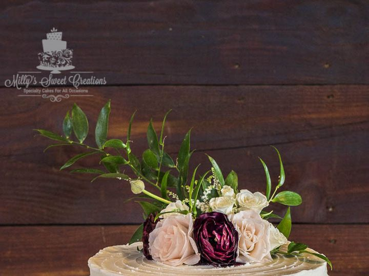 Tmx 1476071023502 Singletier Double Barrel Textured Buttercream Wedd Cleburne, Texas wedding cake