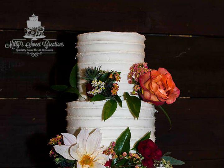 Tmx 1480912947231 Shabby Chic Wedding Cake With Textured Buttercream Cleburne, Texas wedding cake