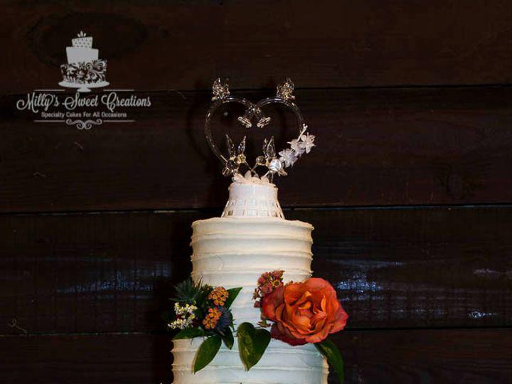 Tmx 1480912947636 Shabby Chic Wedding Cake With Textured Buttercream Cleburne, Texas wedding cake