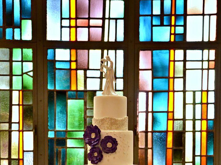 Tmx 1483587314877 Elegant White  Purple Wedding Cake 002 Cleburne, Texas wedding cake