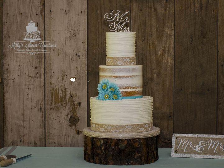 Tmx 1490064702747 Rustic Nearly Naked Wedding Cake 008 Cleburne, Texas wedding cake