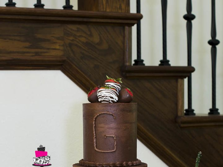 Tmx 1503283521962 Chocolate With Chocolate Covered Strawberries Groo Cleburne, Texas wedding cake
