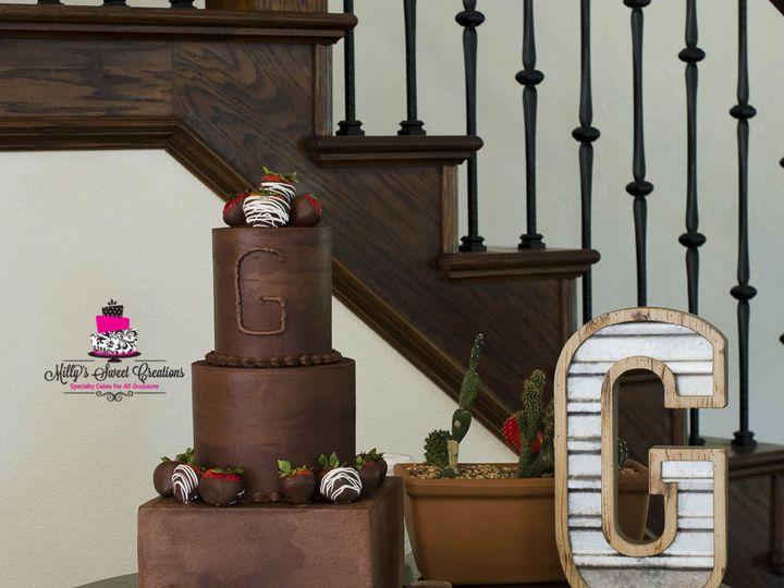 Tmx 1503283522272 Chocolate With Chocolate Covered Strawberries Groo Cleburne, Texas wedding cake