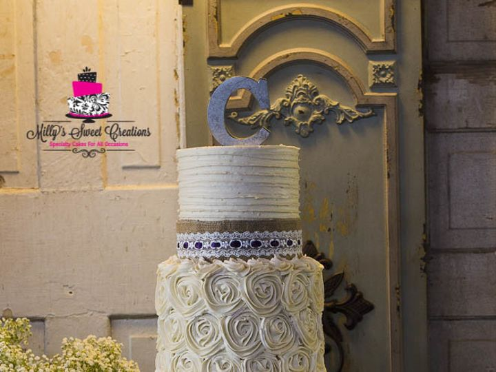 Tmx 1504455977123 Country Rustic Chic Wedding Cake In Ivory Buttercr Cleburne, Texas wedding cake