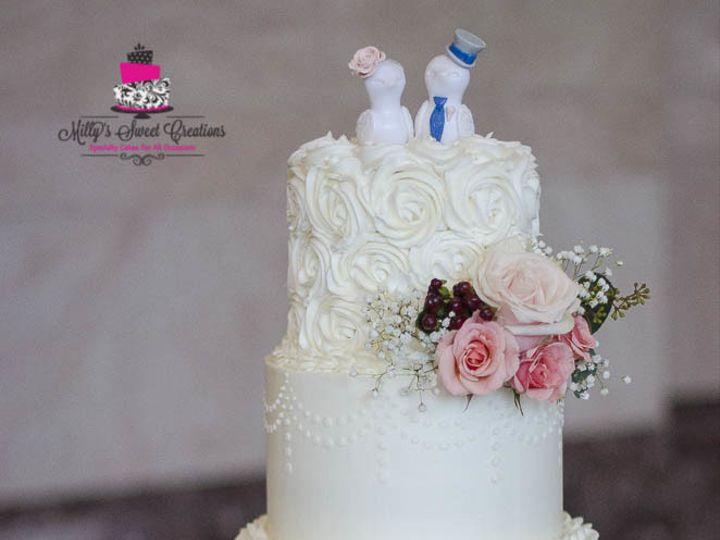 Tmx 1509953623578 Romantic Chic Wedding Cake In Alternating Rosettes Cleburne, Texas wedding cake