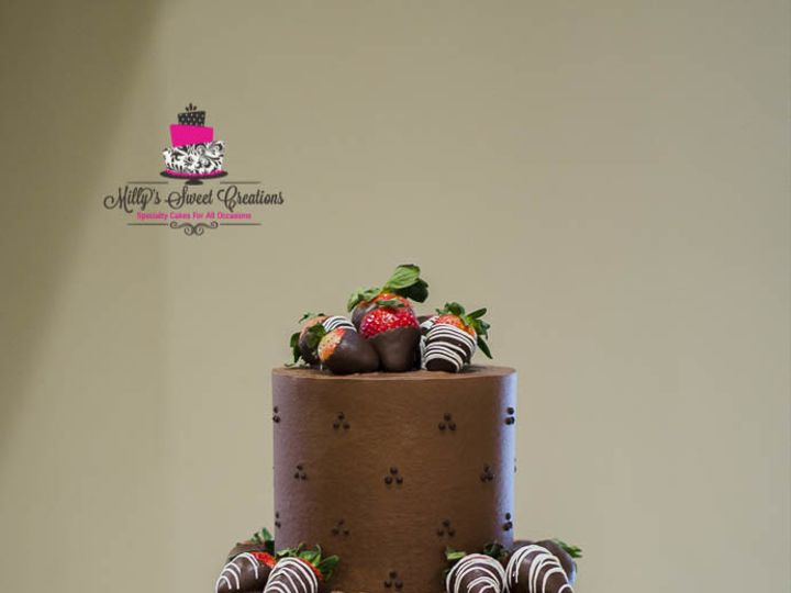 Tmx 1511741030901 Quilted And Swiss Dots Chocolate Grooms Cake 003 Cleburne, Texas wedding cake