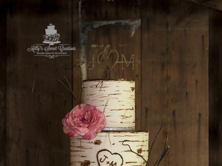 Tmx 1538884516 501fb649b97ed813 1538884514 69a49da1532081d7 1538884512601 1 Rustic Birch Bark  Cleburne, Texas wedding cake