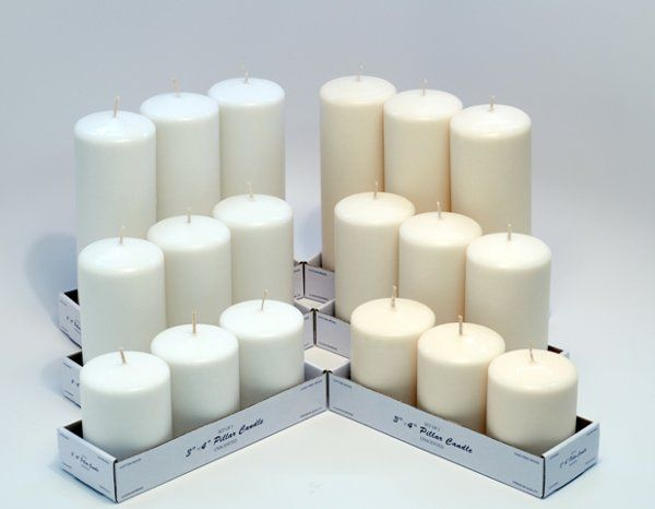 Assorted Pillar Pack  http://www.candles4less.com/Assorted-Pillar-Pack-Set-of-9_p_8.html