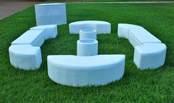Lounge seats on the grass