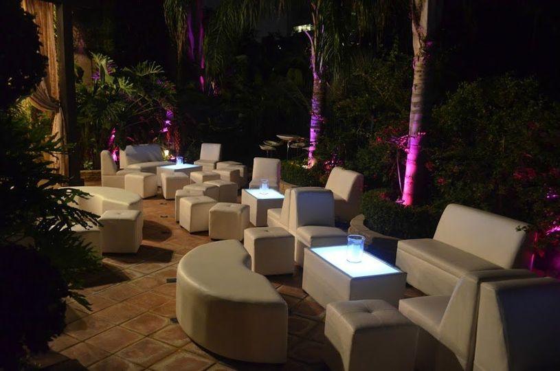 Outdoor lounge setup