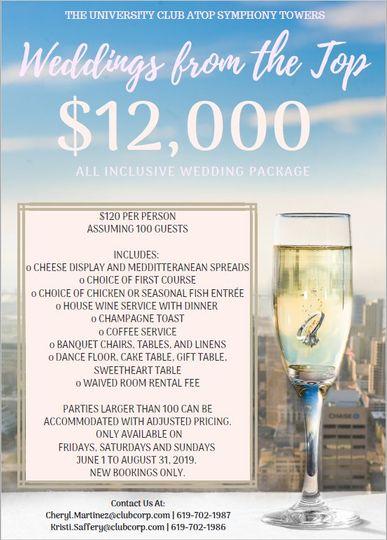 $12k All Inclusive Wedding