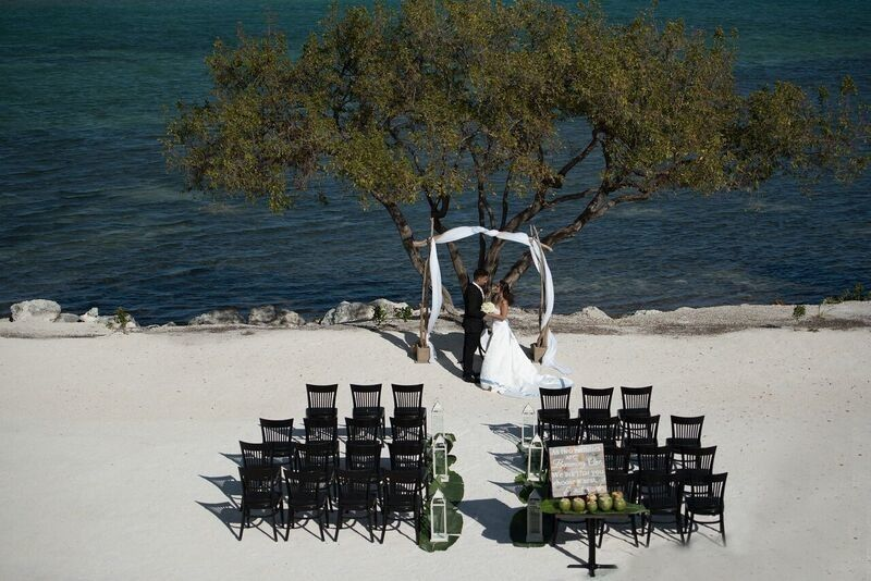 Beachfront wedding space