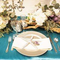 Ocean blue table cloth
