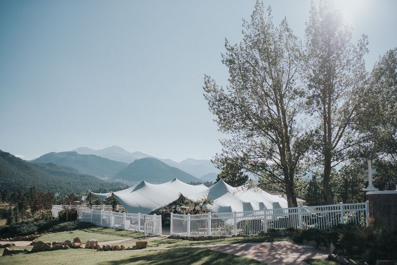 Tentrix platinum stretch tent pitch at Stanley Hotel.