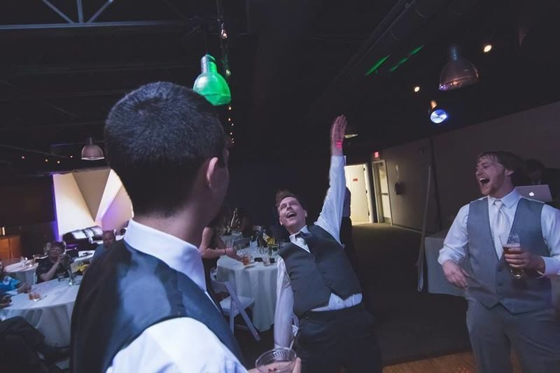 Groomsmen on the dance floor