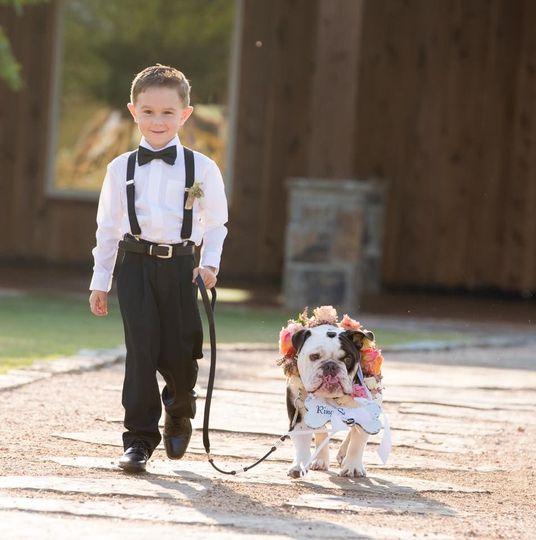 Kid with pug