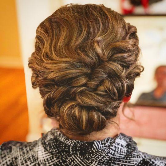 Wedding Hair by Mollie Monthie