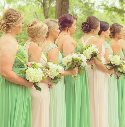 I love doing bridal parties!