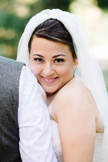 Beautiful natural makeup and soft upstyle by me for this sweet bride.