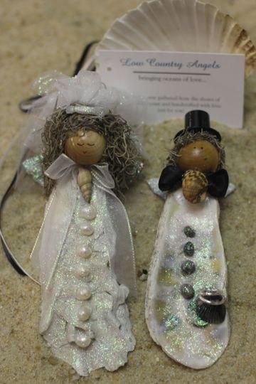 Bride & Groom Angel Ornaments