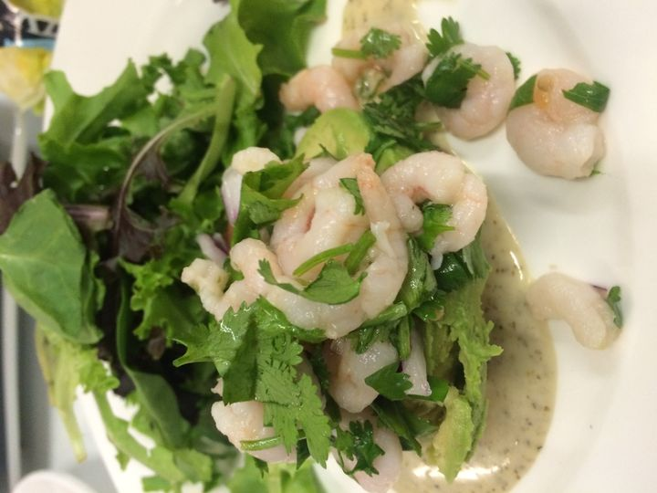 Shrimp Avocado Salad w/ Cilantro Lime Dressing