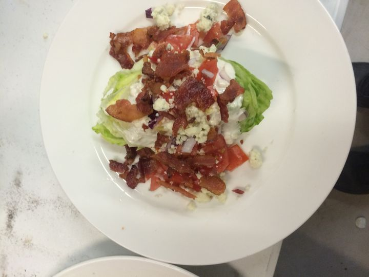 Wedge salad w/ proscuitto crisp blue cheese dressing