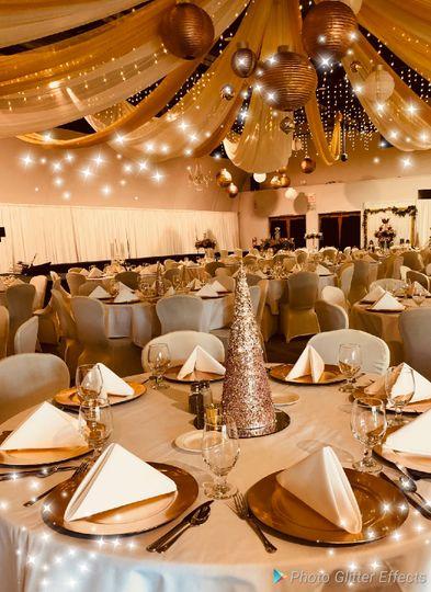Gold Holiday Wedding