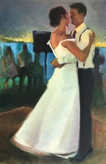 Zion and LoganLive Painting of First Dance