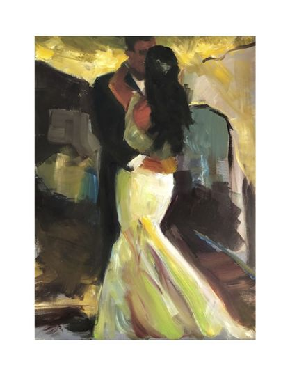 Camille and BrettLive Painting of First Dance