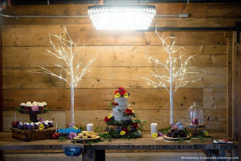 Grimm Fairytale Wedding Shoot - Naked Cake - Dessert Bar