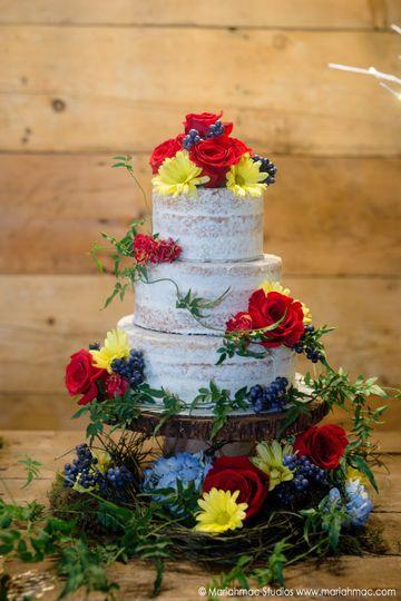 Grimm Fairytale Wedding Shoot - Naked Cake