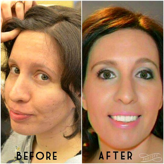 THE WHITE PLAINS BRIDE!  Blemish and Problem Skin Coverage, Soft Pinks paired with a Charcoal Smokey...