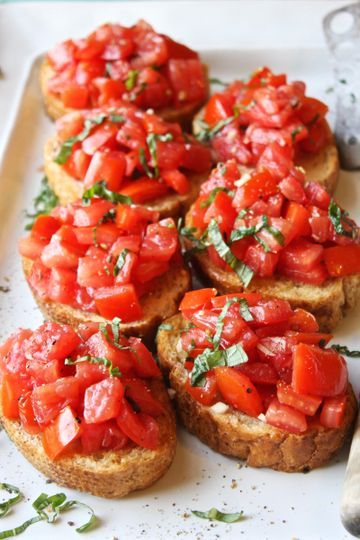 Bread with red sauce
