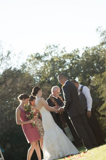 Sam at a Hill Country wedding